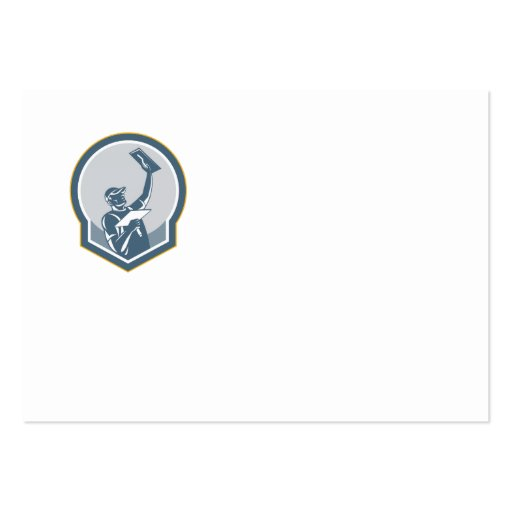 Trabajador de la albañilería del yesero retro tarjeta de visita