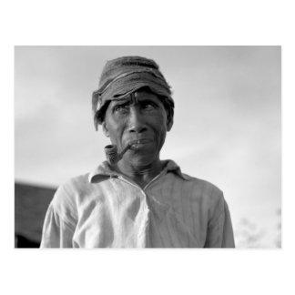 Trabajador de la plantación - subtítulo censurado postal