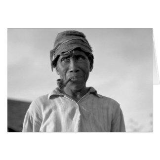 Trabajador de la plantación - subtítulo censurado tarjeta de felicitación