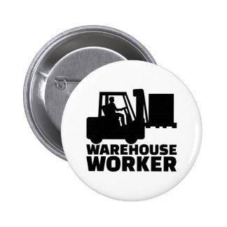 Trabajador de Warehouse Chapa Redonda De 5 Cm