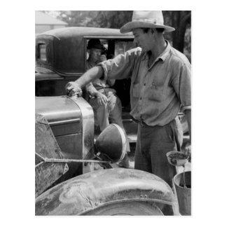 Trabajador migratorio Cars, 1940 de la fruta Postal