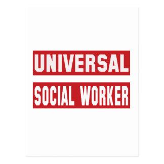 Trabajador social universal postal
