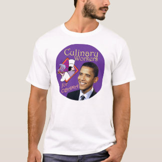 Trabajadores culinarios de Barack Obama para Obama Camiseta