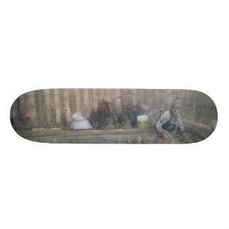 Trabajadores que preparan las secciones de bambú patineta personalizada