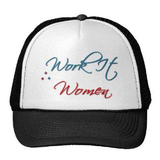 Trabájelo gorra del logotipo de las mujeres