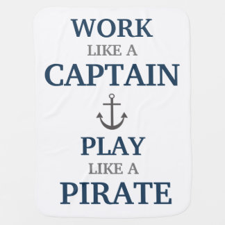 Trabajo como un capitán Nautical Nursery Baby Mantita Para Bebé