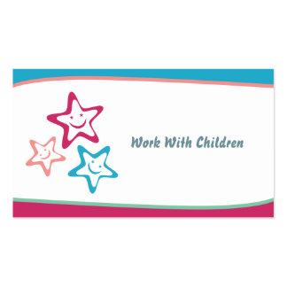 Trabajo con los niños tarjetas de visita