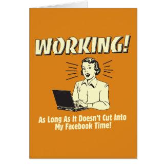 Trabajo: Corte en el tiempo de Facebook Tarjeton
