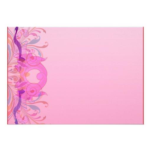 Trabajo de arte floral expresivo en rosa comunicados