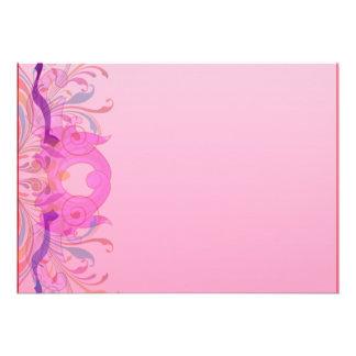 Trabajo de arte floral expresivo en rosa anuncio personalizado