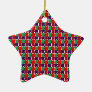 Trabajo de cadena elegante en modelo gráfico verde ornamentos de navidad