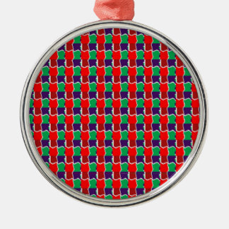 Trabajo de cadena elegante en modelo gráfico verde ornamento para arbol de navidad