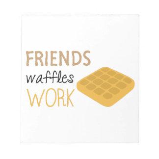 Trabajo de las galletas de los amigos bloc de notas