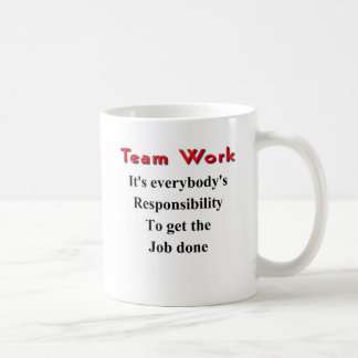 Trabajo del equipo tazas de café