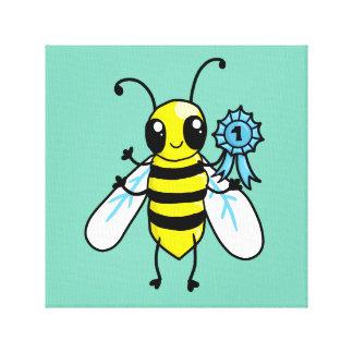 Trabajo duro de la abeja ocupada impresión en lona estirada