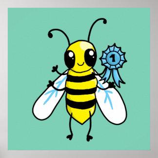 Trabajo duro de la abeja ocupada póster