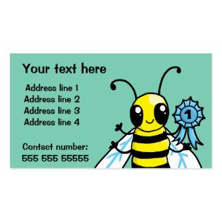 Trabajo duro de la abeja ocupada tarjetas de visita