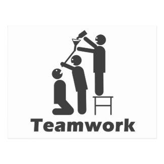 Trabajo en equipo - mercancía de motivación tarjetas postales