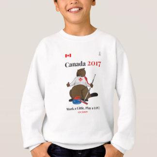 Trabajo que se encrespa de Canadá 150 en 2017 Sudadera