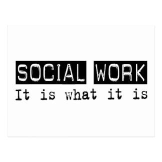 Trabajo social es postal