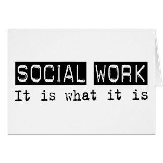 Trabajo social es tarjeta de felicitación