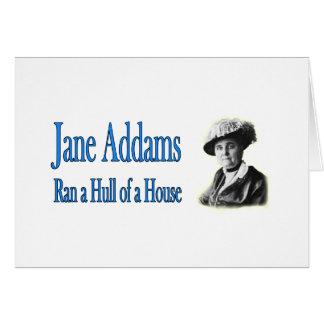 Trabajo social: Jane Addams corrió un casco de una Tarjeta De Felicitación