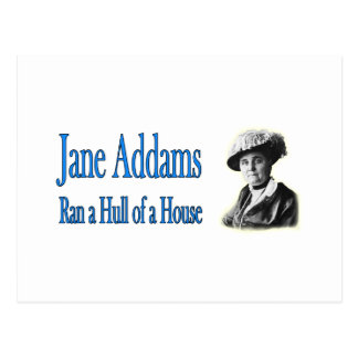 Trabajo social: Jane Addams corrió un casco de una Tarjeta Postal