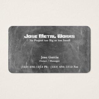 Trabajos de encargo del metal tarjeta de negocios