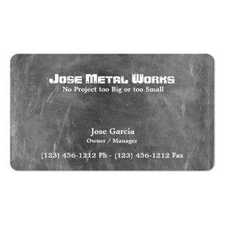 Trabajos de encargo del metal tarjetas de visita