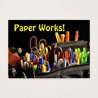 ¡Trabajos de papel! Arte Tarjeta De Visita