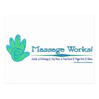 ¡Trabajos del masaje! Postal