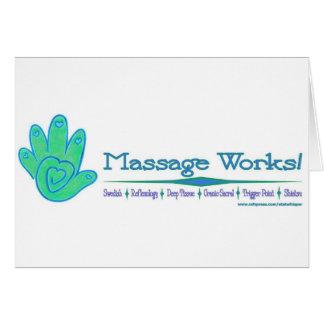 ¡Trabajos del masaje! Tarjeta De Felicitación