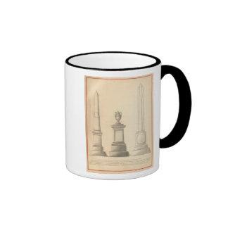 Trabajos del monumento del mármol y del granito de tazas de café