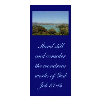 Trabajos maravillosos [de dios] - 37:14 del folleto publicitario 10 x 22,8 cm