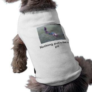 Tracción del peso del pitbull camisetas de mascota