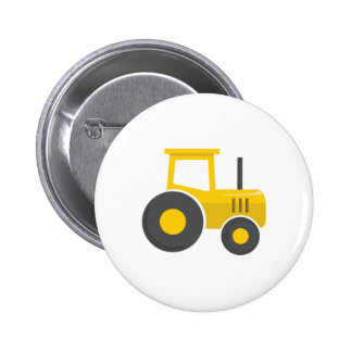 Tractor amarillo chapa redonda de 5 cm