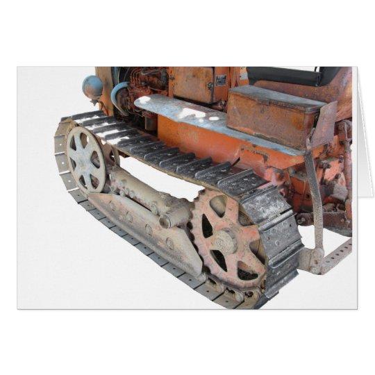 Tractor de correa eslabonada italiano viejo tarjeta de felicitación