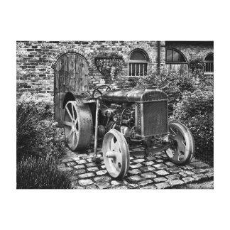 Tractor de Fordson del vintage, hecho para 24x18 Impresión En Lona