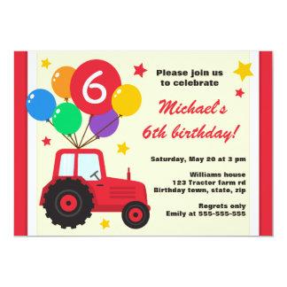 Tractor de granja con la fiesta de cumpleaños de invitación 12,7 x 17,8 cm