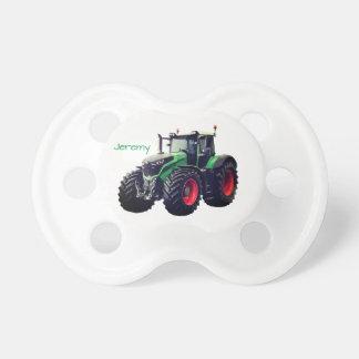 Tractor de granja verde moderno personalizado chupete