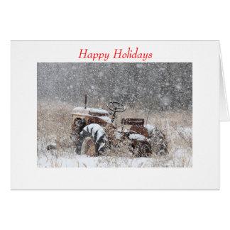 Tractor de la nieve de la tarjeta de felicitación