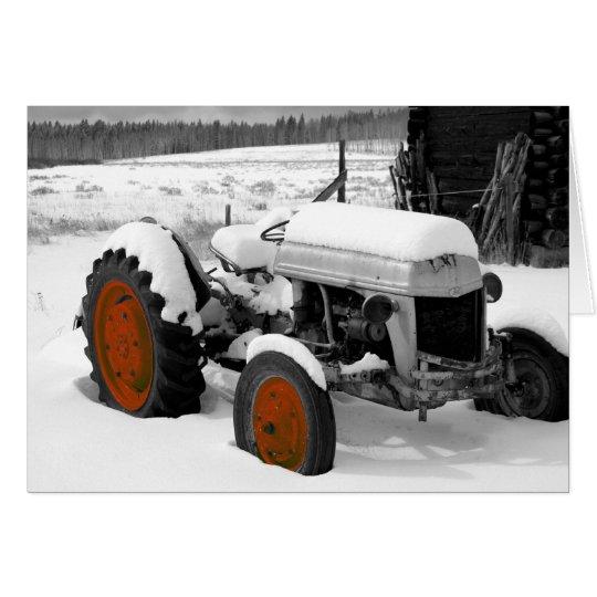 Tractor del navidad (YO) Tarjeta De Felicitación