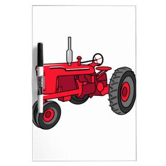 Tractor del rojo del vintage pizarras blancas de calidad
