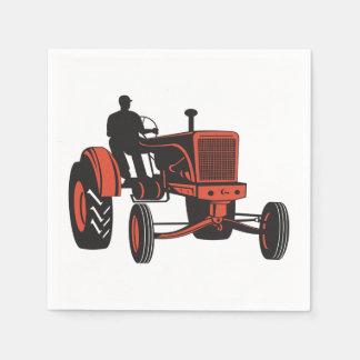 Tractor del vintage servilletas de papel