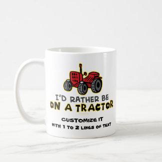 Tractor divertido taza de café