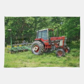 Tractor internacional viejo toallas de cocina