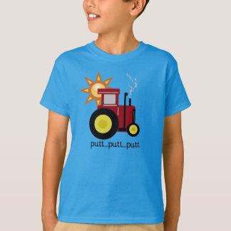 Tractor rojo del putt del putt camiseta