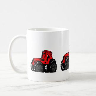 Tractor rojo taza de café