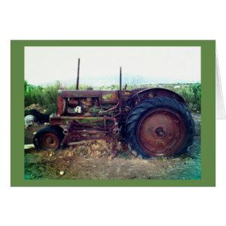 Tractor viejo tarjeta de felicitación