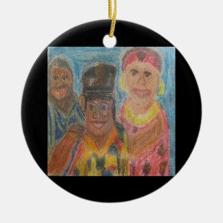 Tradición africana adorno redondo de cerámica